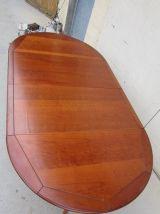 Table ronde quadripode merisier ouvrante