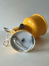 Applique murale jaune en métal Amilux