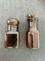 Duo de pots ambrés vintage