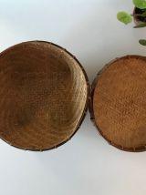 Panière de rangement vintage en osier