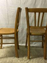 Lot de 4 chaises bistrot LUTERMA – années 50