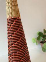 Bouteille scoubidou décorative vintage