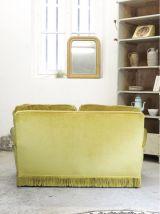 Canapé velours vintage années 60