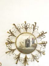 Ancien miroir convexe / sorcière / soleil