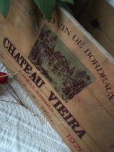 Caisse à vin chateau vieira 1979.