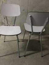Paire de chaises en formica années 60