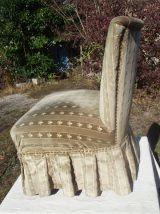 Rare paire de fauteuils vintage en velours
