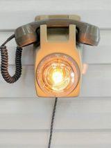 """Lampe murale industrielle, Applique vintage - """"Appelle moi !"""