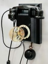"""Lampe murale industrielle, Applique vintage - """"Black Phone"""""""