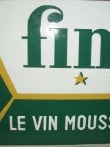 Ancienne plaque émaillée Finette sur le Vin