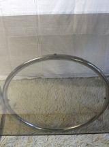 Table de salle à manger – chrome et verre – circa 70