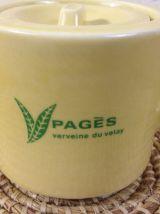 """Théière """"verveine  Pagès"""" et son pot à lait"""