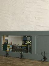 Porte manteaux miroir murale ancien