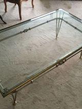 Table basse avec plateau en verre 1930