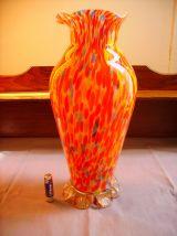 Vase ancien en verre de clichy