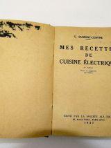 mes recettes de cuisine electrique dumont lespine  ALs thom