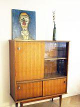 Meuble rangement vitrine vintage scandinave 60's
