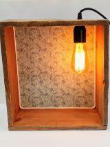 """Lampe murale, applique vintage - """"Tamis Carré"""""""