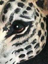 Décoration murale tête de tigre en céramique