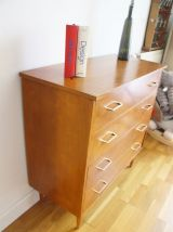 Commode vintage scandinave pieds compas 60's