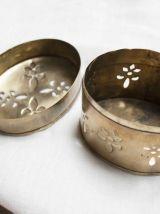 boîte à bijoux laiton doré