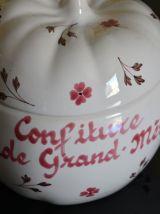 pot à confiture en porcelaine