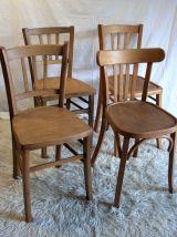 Chaises bistrot dépareillées (Lot de 4) – circa 50