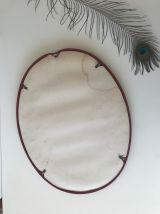 Miroir vintage ovale en métal
