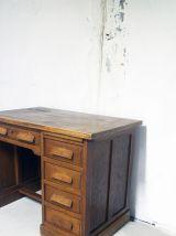 Bureau chêne vintage années 60 d'administration