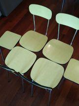 Ensemble en formica : table, chaises et tabourets