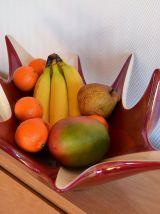 Grande coupe à fruits design VERCERAM - années 50