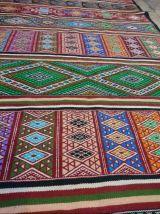kilim couloir multicolore fait à la main