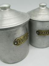 4 pots à épices aluminium
