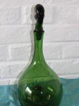 Carafe canard en verre soufflé début Empoli 1930 1940