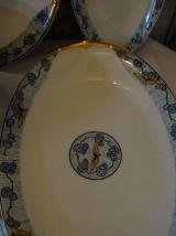 Vintage Ancien 5 plat en porcelaine de limoge art déco