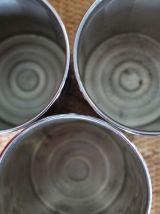 trois boîtes en cuivre chromée france