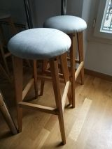 Table haute bar DIY custom style loft +4 tabourets