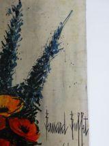 reproduction Bernard Buffet les pavots peinture sur toile pr