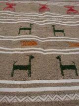 Kilim gris fait à la main en laine