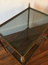 Table d'appoint Cuivre verre fumé neo classique