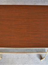 Table desserte en formica à roulettes - vintage des années 5
