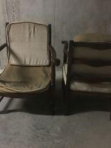 Paire de fauteuils bohèmes