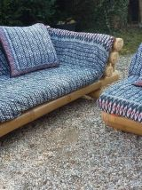 Canapé d'angle bambou