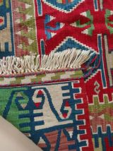 Kilim tapis turc fait à main en pure laine 200cm*125cm