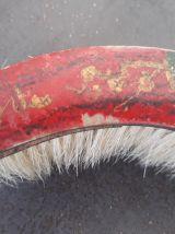 Ancienne balayette ramasse miettes décor chinois