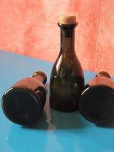 3 petites  bouteilles style ancien réédition