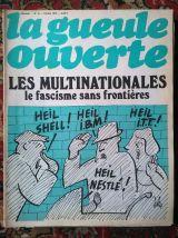 """Lot """"La gueule ouverte"""" - journal satirique années 70"""