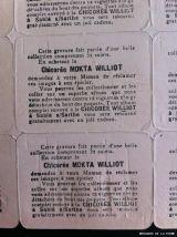 """ANCIENNE PLANCHE DE 32 VIGNETTES GAUFREES DE""""CHICORE MOKTA"""