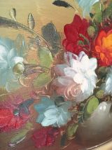 Nature morte bouquet de fleurs dans un vase.