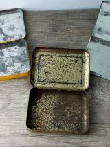 3  boîtes à pastilles en métal